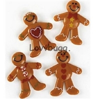 Four (4) Gingerbread Men for American Girl Doll Food Accessory