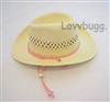 Straw Cowboy Hat for American Girl 18 inch or Bitty Baby 15 inch Doll Clothes Nikki Accessory