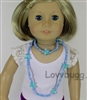 Blue Butterfly Necklaces Jewelry Accessory for Both Girl and her 18 inch American Girl Doll