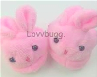 "Lovvbugg Rabbit Slippers for 18"" American Girl Doll Clothes Shoes"