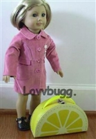 "Cute Lemon Trunk Suitcase for 18"" American Girl Doll Accessory"