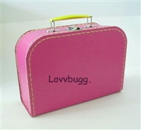 M Hot Pink Suitcase for 18 inch American Girl, Baby or Wellie Wishers Doll Accessories Storage