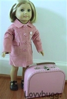 Small Pink Suitcase for 18 inch American Girl, Baby or Wellie Wishers Doll Accessories Storage