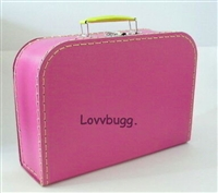 Large Hot Pink Suitcase for 18 inch American Girl, Baby or Wellie Wishers Doll Accessories Storage