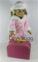 Small Hot Pink Suitcase for 18 inch American Girl, Baby or Wellie Wishers Doll Accessories Storage