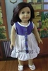 SALE Denim Top Dress 18 inch American Girl or Bitty Baby Doll Clothes