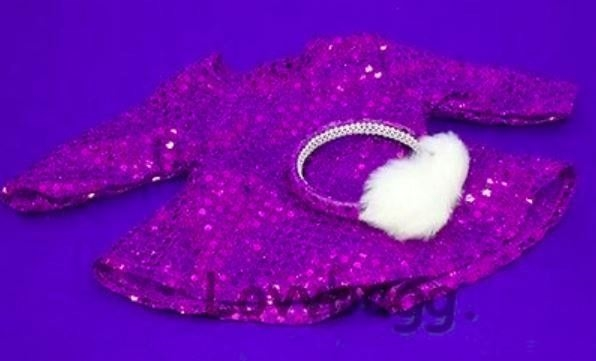 Doll Clothes Boots Purple Sequin fit 18 inch American Girl