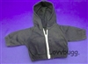 "Black Hoodie Jacket for 18"" American Girl Doll Clothes"