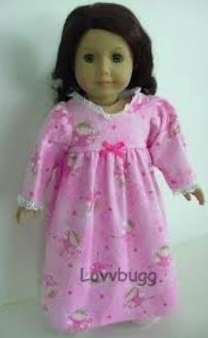Flannel Heart Pajamas Sleepwear for 18 inch American Girl Doll Clothes