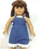 SALE Denim Sundress 18 inch American Girl or Bitty Baby Doll Clothes