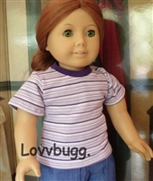 SALE Purple T Shirt 18 inch American Girl and Bitty Baby Doll Clothes