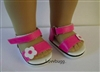 "Pink Sandals for 18"" American Girl n Bitty Baby Doll Shoes"