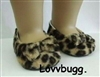 "Leopard Ballet Flats for 18"" American Girl or Bitty Baby Doll Shoes"