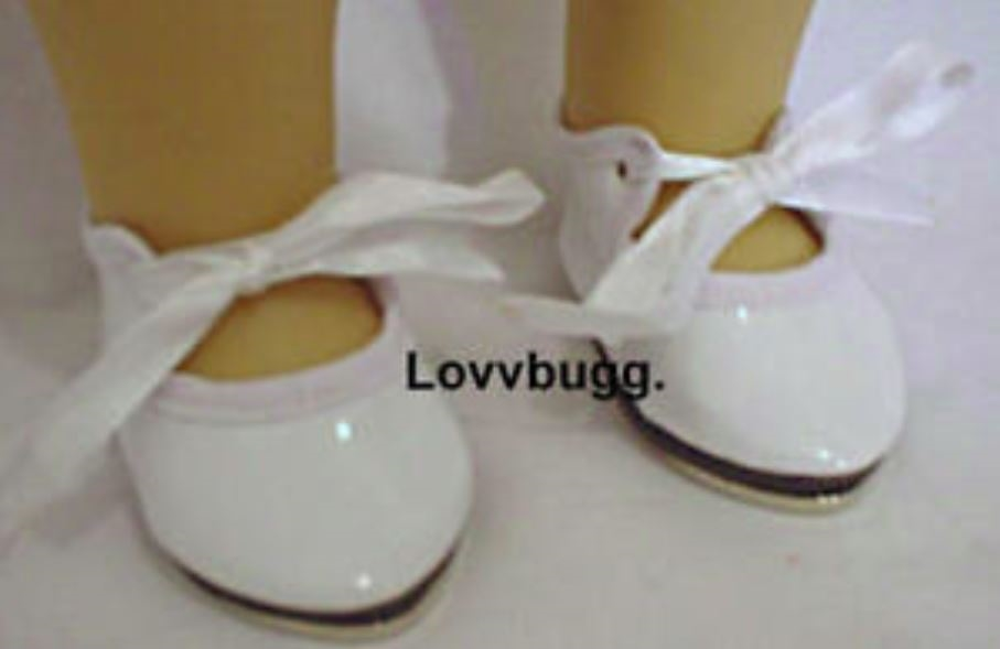 White Tap Shoes 18 inch American Girl