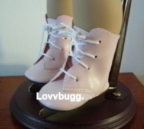 Pink Ice Skates for American Girl 18 inch Doll Shoes  LOVV THAT LOVVBUGG!