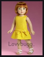 Tonner 2015 My Imagination Starter Redhead 18 inch Doll in Yellow Dress--Highly Collectible!