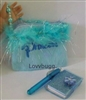 "SALE Blue Princess Bag Notebook Purse Set for 18"" American Girl Doll Accessory"