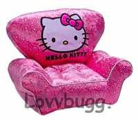 Hello Kitty Chair 18 inch American Girl or Bitty Baby Furniture