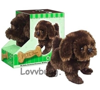 Chocolate Lab Puppy Dog Moves Barks 18 inch American Girl Doll Accessory