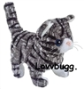 Black and Gray Cat Moves Meows 18 inch American Girl Doll Pet Accessory