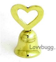 Real Brass Teacher Mini Bell 18 inch American Girl Doll School Play Accessory