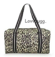 Superior Quality Leopard Duffle Bag Trunk Suitcase 18 inch American Girl Doll Storage Playdate Accessory