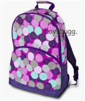 SALE Full Size Purple Dots Backpack Trunk Suitcase 18 inch American Girl Doll Fits Inside! Storage Playdate Accessory