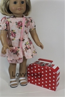 Red Suitcase 18 inch American Girl Doll Storage Accessory