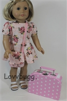 Pink Travel Bag Suitcase 18 inch American Girl Doll Storage Accessory