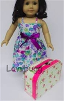 Floral Suitcase S 18 inch American Girl Doll Storage Accessory