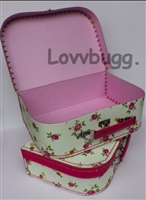Floral Suitcase L 18 inch American Girl Doll Storage Accessory