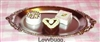 Oval Silver Tray with Petit Fours 18 inch American Girl Doll Food Accessory