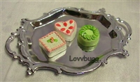 Fancy Silver Tray with Petit Fours 18 inch American Girl Doll Food Accessory