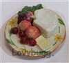 Cheese and Fruit Plate 18 inch American Girl Doll Food Accessory