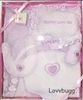 SALE Lavender Layette Set Clothes Carrier Bib Blanket 15 to 18 inch Baby Doll