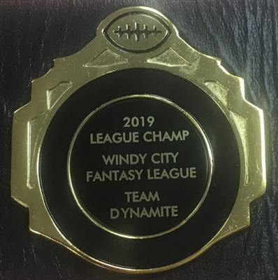 Custom Fantasy Football Championship Belt Plate