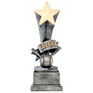 3D Star Fantasy Baseball Trophy from Bruno's