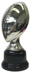Shiny Silver Fantasy Football Trophy on Round Base from Bruno's