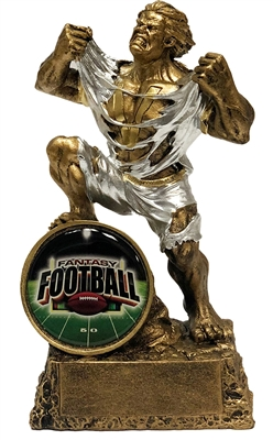Barney Badass Shield Fantasy Football Trophy from Bruno's