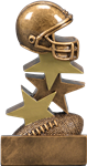 Helmet on Top Small Football Trophy