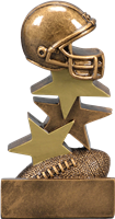Helmet on Top Fantasy Football Trophy from Bruno's