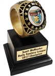 Large Ring Fantasy Football Trophy | Bruno's