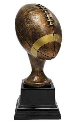Rustic Bronze Large Football Trophy