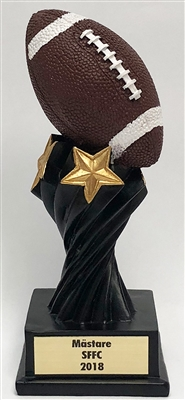 Large Twisted Pedestal Football Trophy