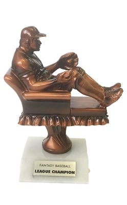 Bronze Superfan Fantasy Baseball Trophy from Bruno's