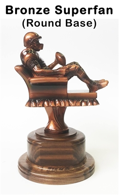 Bronze Superfan Fantasy Football Trophy from Bruno's