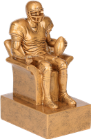 Golden Superfan Fantasy Football Trophy from Bruno's
