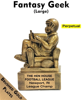 Fantasy Geek Football Trophy-Perpetual