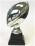 Shiny Silver Fantasy Football Trophy from Bruno's