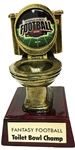 Toilet Bowl Fantasy Football Trophy from Bruno's
